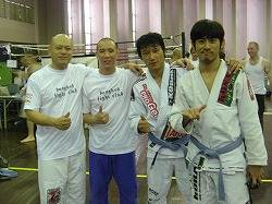 バンコクで柔術の大会 韓国のキム選手