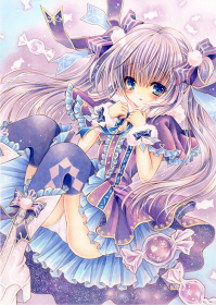 オリジナルイラスト。絵。ファンタジー。キャンディ。キャンディー。女の子。魔法。雪。ツインテール。少女。Snow Candy。