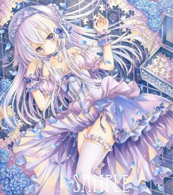 オリジナルイラスト。絵。女の子。ファンタジー。少女。魔法。 童話。姫。ゴシック。銀髪。パズル。白パズル。White Puzzle。