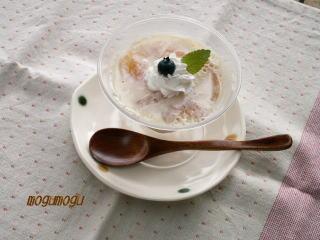 ピーチヨーグルト豆乳プリン