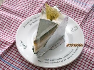パステルの抹茶ケーキ