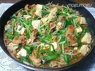 韓国風鶏のすき焼き