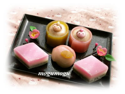 お雛様の和菓子