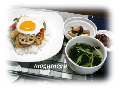 豚野菜丼1