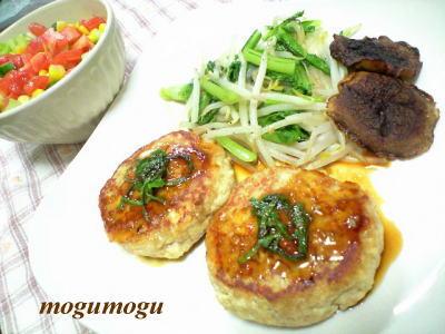 マグロ豆腐のハンバーグ