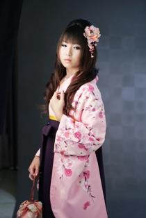 ピンクの袴