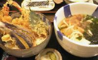 三升「天丼と讃岐うどん」