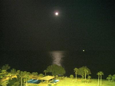 指宿白水館、月の出