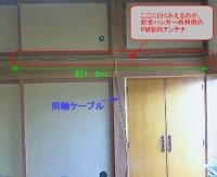 針金ハンガーをリサイクルしてFM室内アンテナ