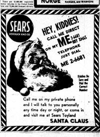 サンタクロースへの直通電話広告