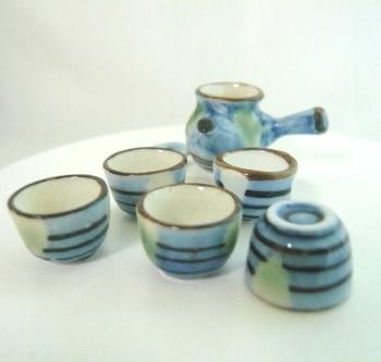 ミニチュア和陶器セット 益子