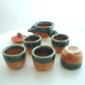 ミニチュア和陶器セット 萩