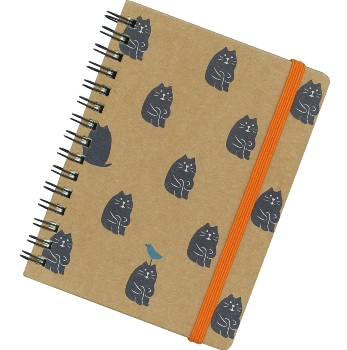 まったりノートブック リングノート(体育座り集団)黒猫
