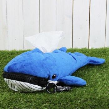 メガジップアニマルティッシュカバー クジラ