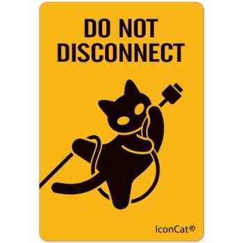 ねこステッカー DO NOT DISCONNECT
