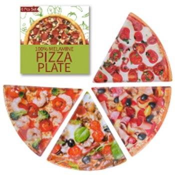 メラミンプレート 1/6ピザ 4個セット