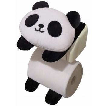 パンダのロールペーパーホルダー