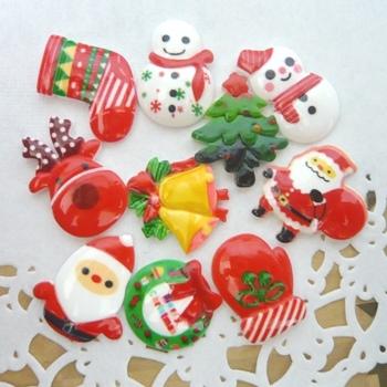 デコパーツ クリスマスパーツ 10種50個セット