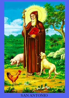 動物守護聖人の聖アントニオさん...