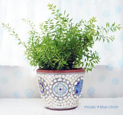 モザイクの植木鉢 ,チュニジアのタイル