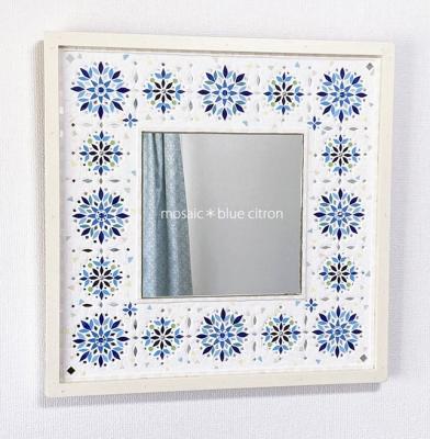 モザイク.モザイクの鏡,タイル,タイルミラー,壁掛け鏡,ウォールミラー,モザイクアート,タイルクラフト,タイルアート