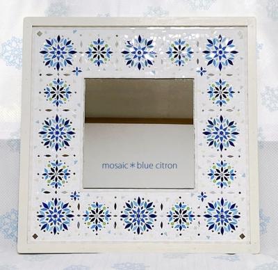 モザイク,モザイクの鏡,モザイクアート,モザイククラフト,壁掛け鏡,ウォールミラー,鏡,タイル,タイルクラフト