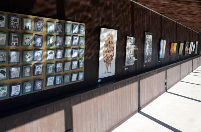 モザイク,モザイク展覧会,国際陶磁器フェスティバル美濃,モザイクアート,タイル,タイルアート,鳩とオリーブ,鳩のモザイク,オリーブのモザイク,オリーブ,鳩,ハト