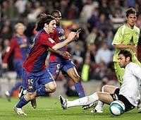 サッカーに首ったけブログ サッカースペイン国王杯 メッシの5人抜き