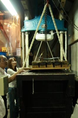 田嶋酒造の木槽(きぶね)