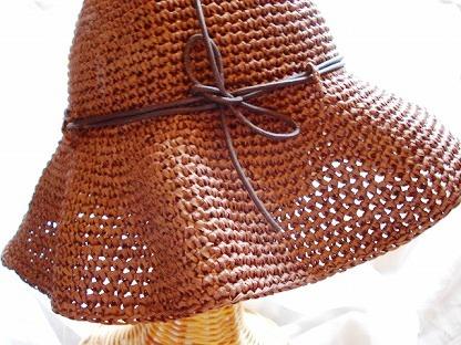 マニラヘンプの帽子