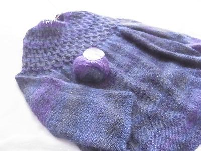 サイチカ 編むのがたのしい、ニット 編みながらスモッキングするセーター