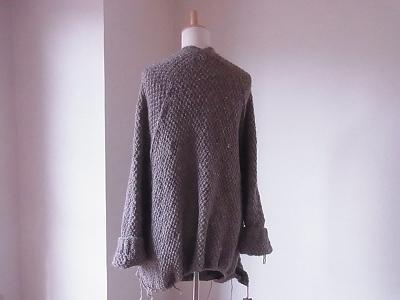 「S・M・L・XL KNIT サイズの選べる手編みの本 」のコート michiyo