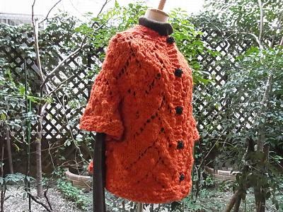 パピー チャビー ネックから編むカーディガン トップダウン 柴田淳 「ネックから編むセーター」「毎日あみもの」