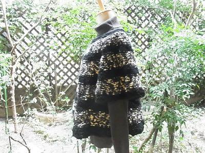 パピー チャビー ネックから編むセーター トップダウン