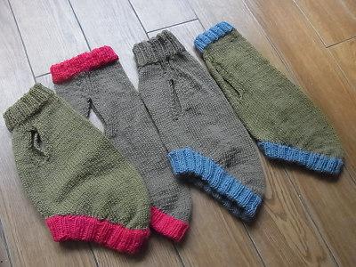 ベルクリエイト クレープ 小型犬 手編みセーター