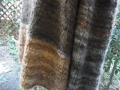 リッチモアモヘアトーティ 余り糸 残り糸で配色ブロックプルオーバー
