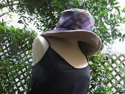 ウー<br /> ル ウールガーゼ リバーシブルの帽子 ソーイング クライムキ