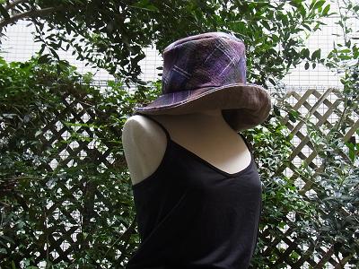 ウール ウールガーゼ リバーシブルの帽子 ソーイング クライムキ