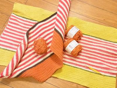 ハマナカ コマコマ かぎ針編み キッチンマット