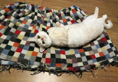 毛糸だま 残り糸 パッチワーク ブランケット クレイジーキルト 縦糸渡しの編み込み
