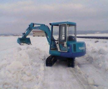 小屋の除雪