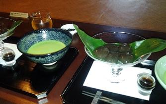 茶寮 芳泉 わらびもち 01