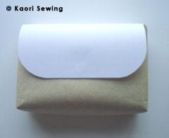 paper bag gusset 6cm front