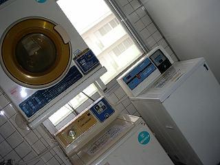 田原寮の洗濯場