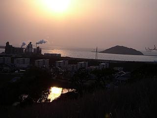 笠山から見える姫島