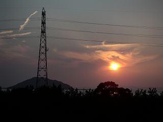 姫島と夕陽6月25日