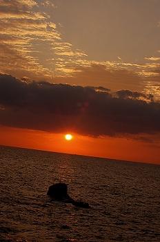 羽根岬の夕陽