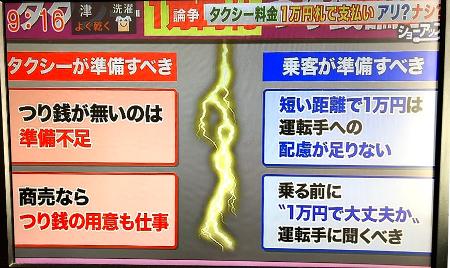 タクシーで一万円札を出したら運転手に釣銭が無いと切れられた件について
