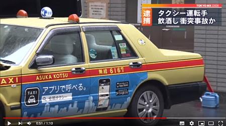 タクシー飲酒運転事故