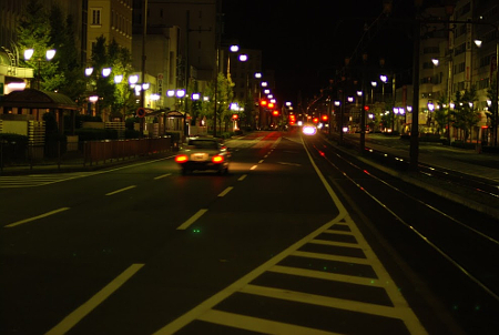 豊橋市 駅前大通り 深夜